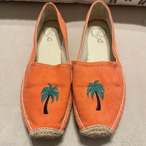 Coral slip on shoes